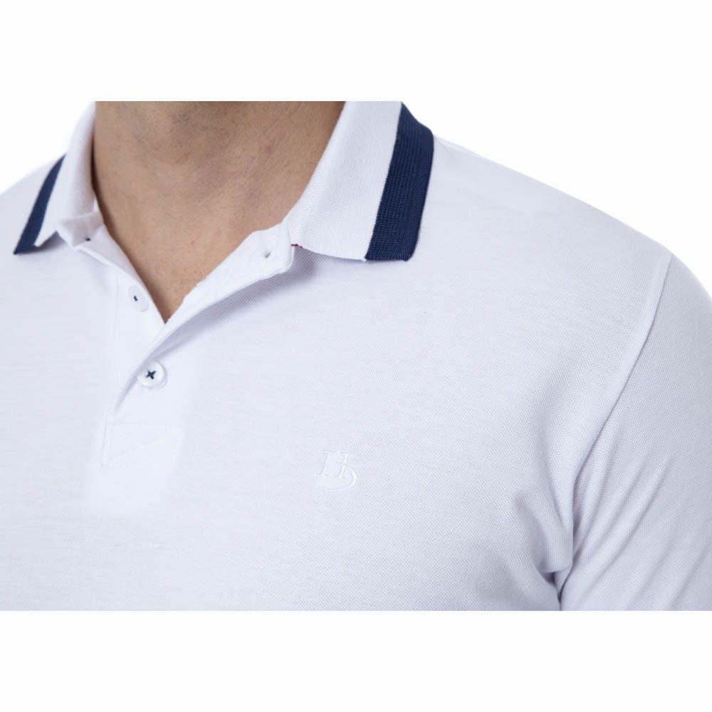 Camisa Polo Hugo Deleon Piquet Branca