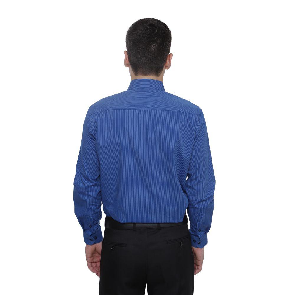 Camisa Slim Fit Hugo Deleon Amber Azul
