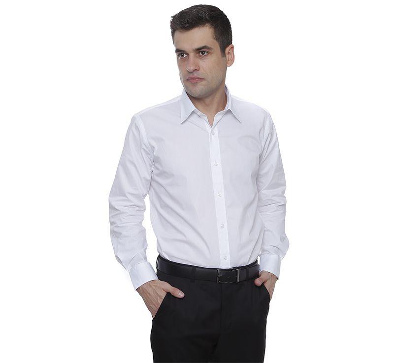 Camisa slim fit Hugo Deleon algodão Bulgatti branca