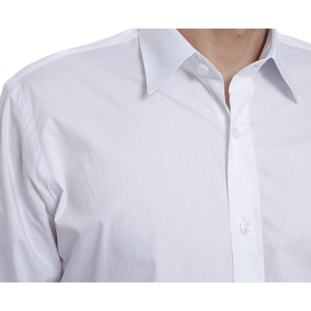 Camisa Slim Fit Hugo Deleon Bulgatti Branca