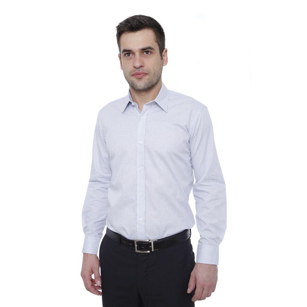Camisa slim fit Hugo Deleon algodão Dobby cinza