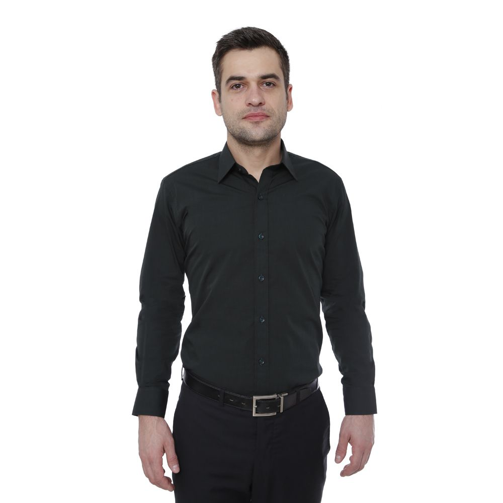 Camisa Slim Fit Hugo Deleon Fil a Fil Verde
