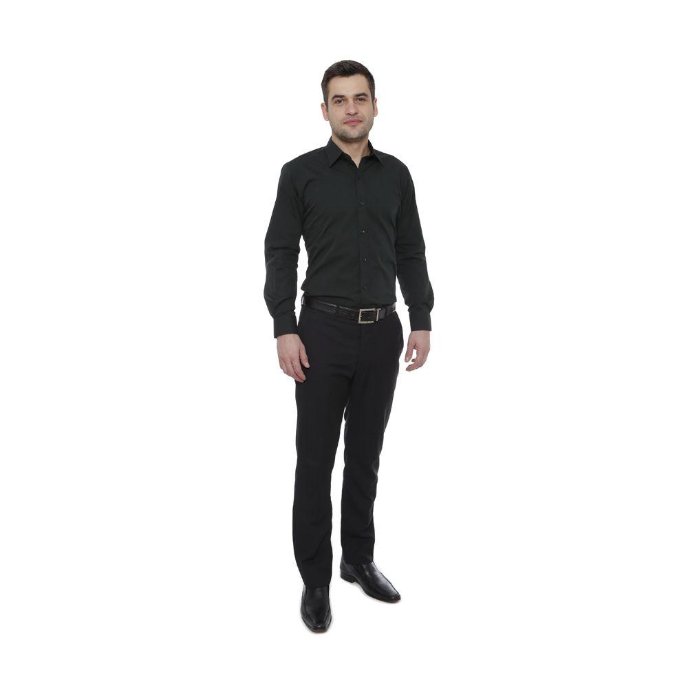 Camisa slim fit Hugo Deleon algodão filafil verde