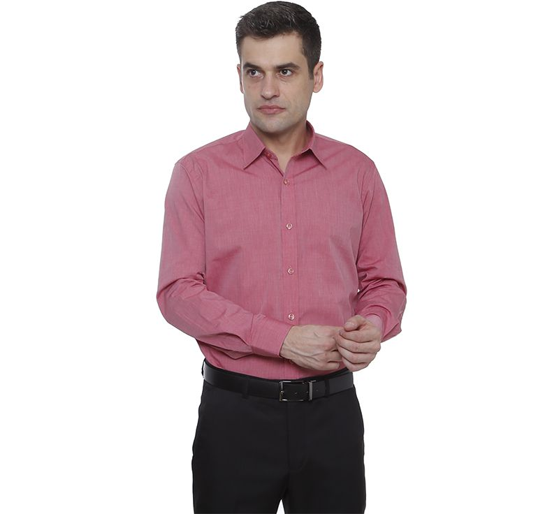 Camisa slim fit Hugo Deleon algodão filafil vermelho