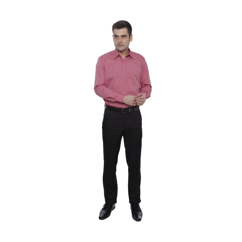 Camisa Slim Fit Algodão Fil a Fil Rosa