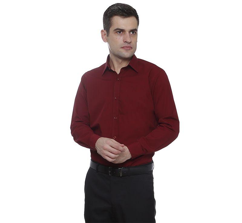 Camisa slim fit Hugo Deleon algodão filafil vinho bordo