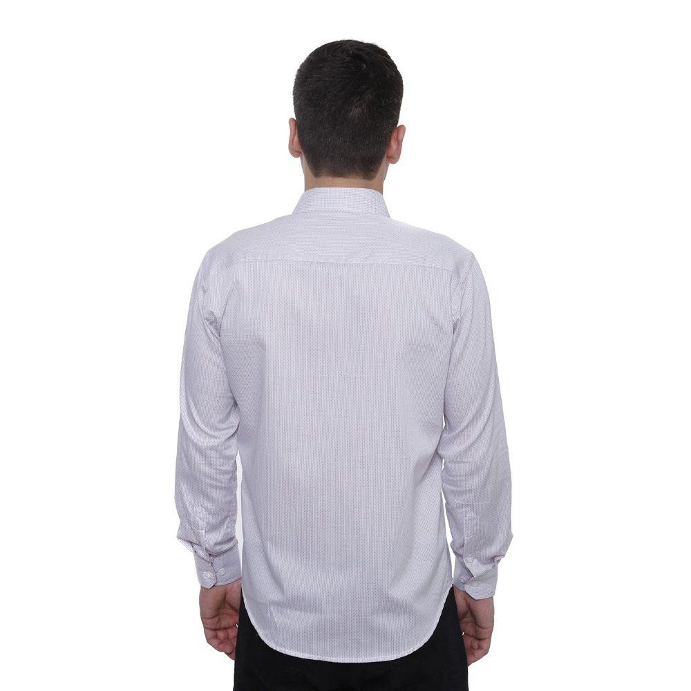 Camisa Slim Fit Hugo Deleon Maquinetada Branca