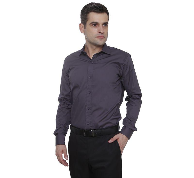 Camisa social Hugo Deleon algodão Bulgatti chumbo