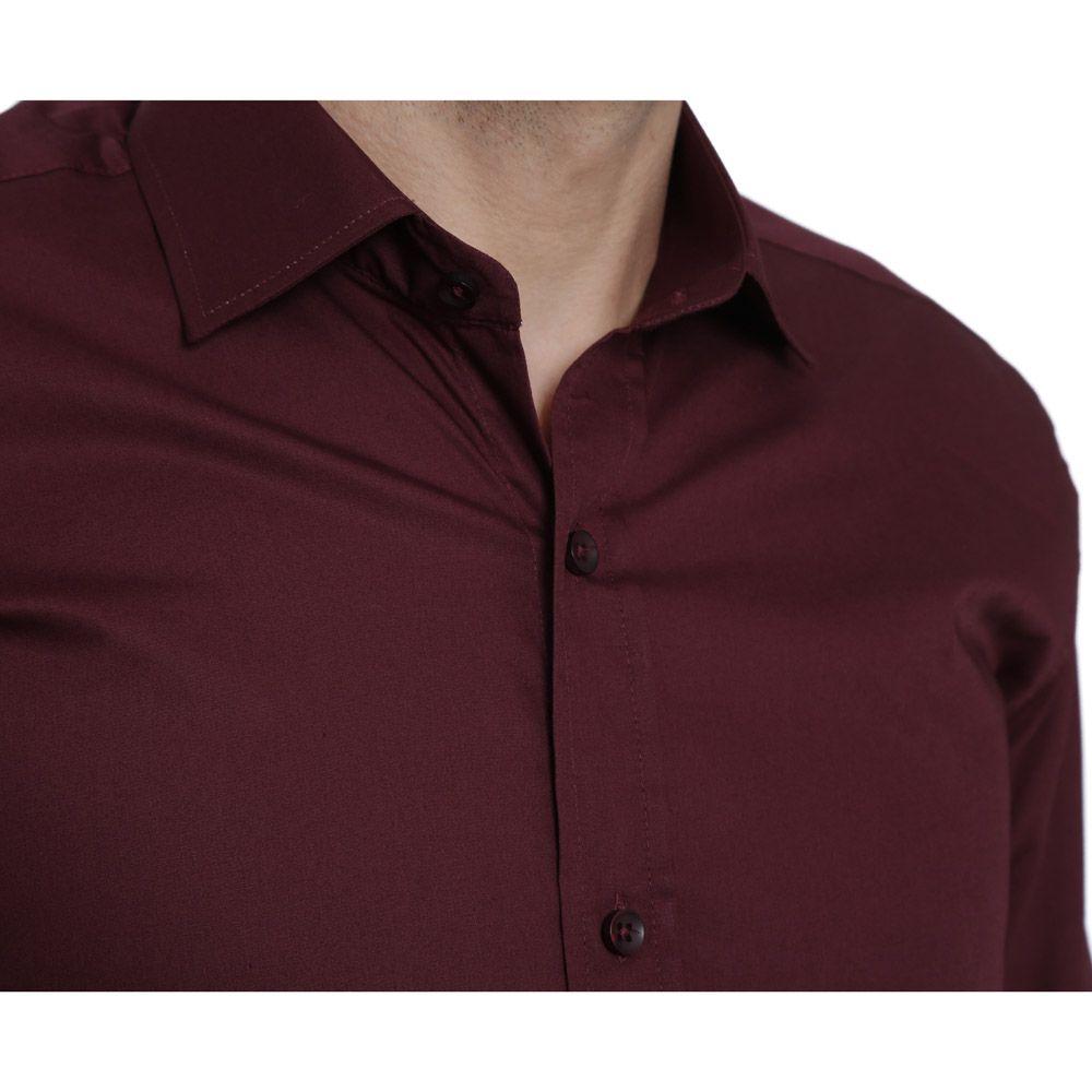 Camisa Social Hugo Deleon Bulgatti Vinho