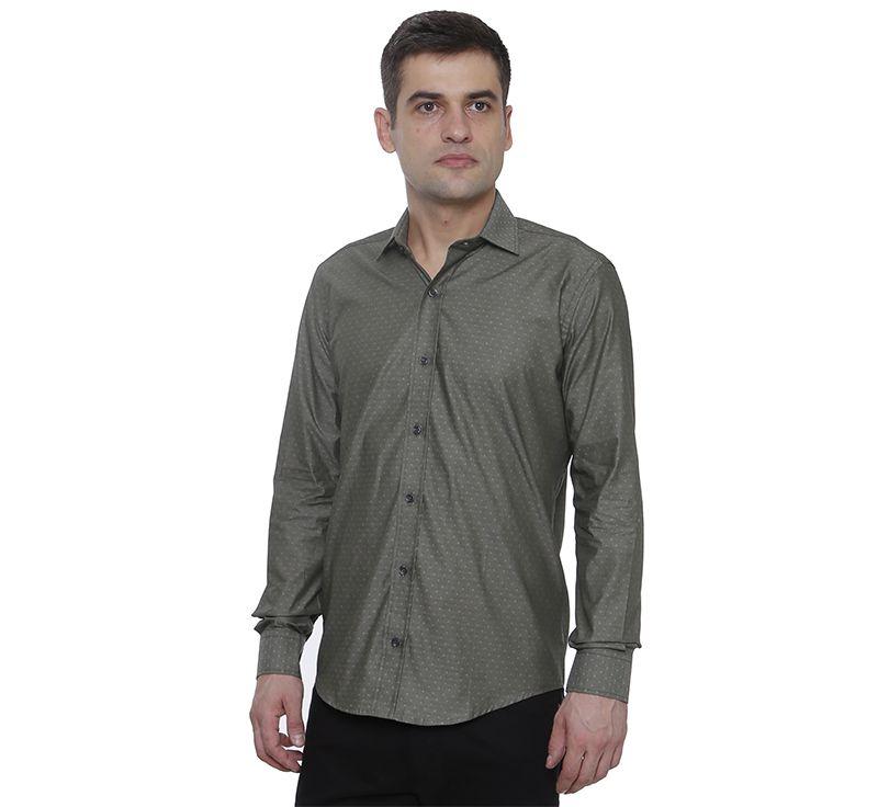 Camisa social Hugo Deleon algodão Dobby cinza
