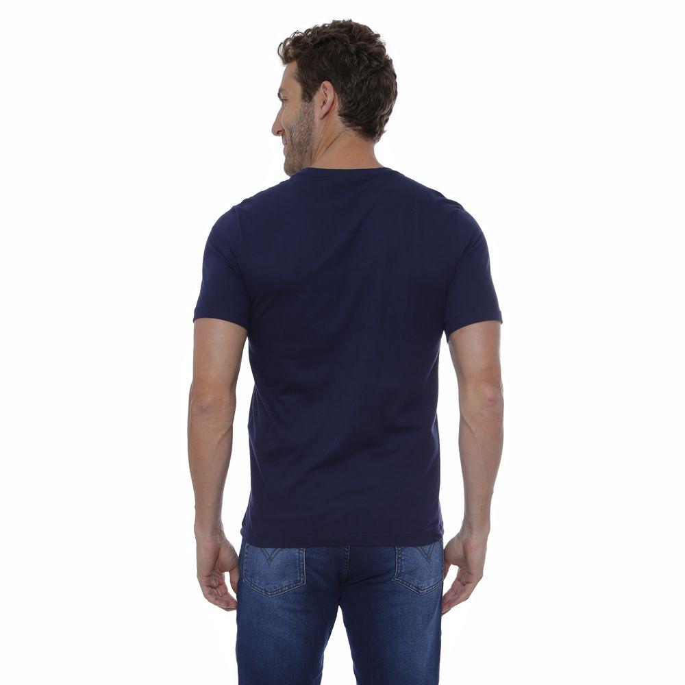 Camiseta Básica Hugo Deleon Marinho