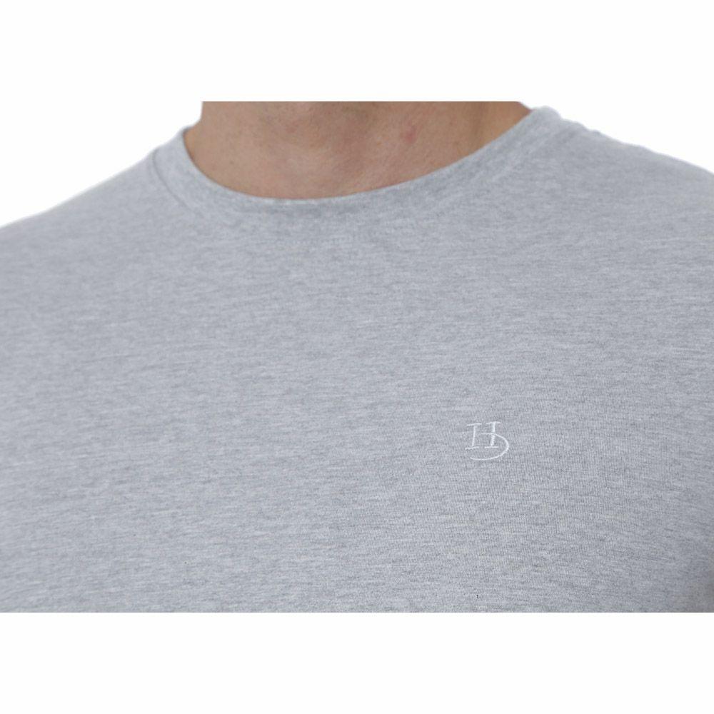 Camiseta Básica Hugo Deleon Cinza