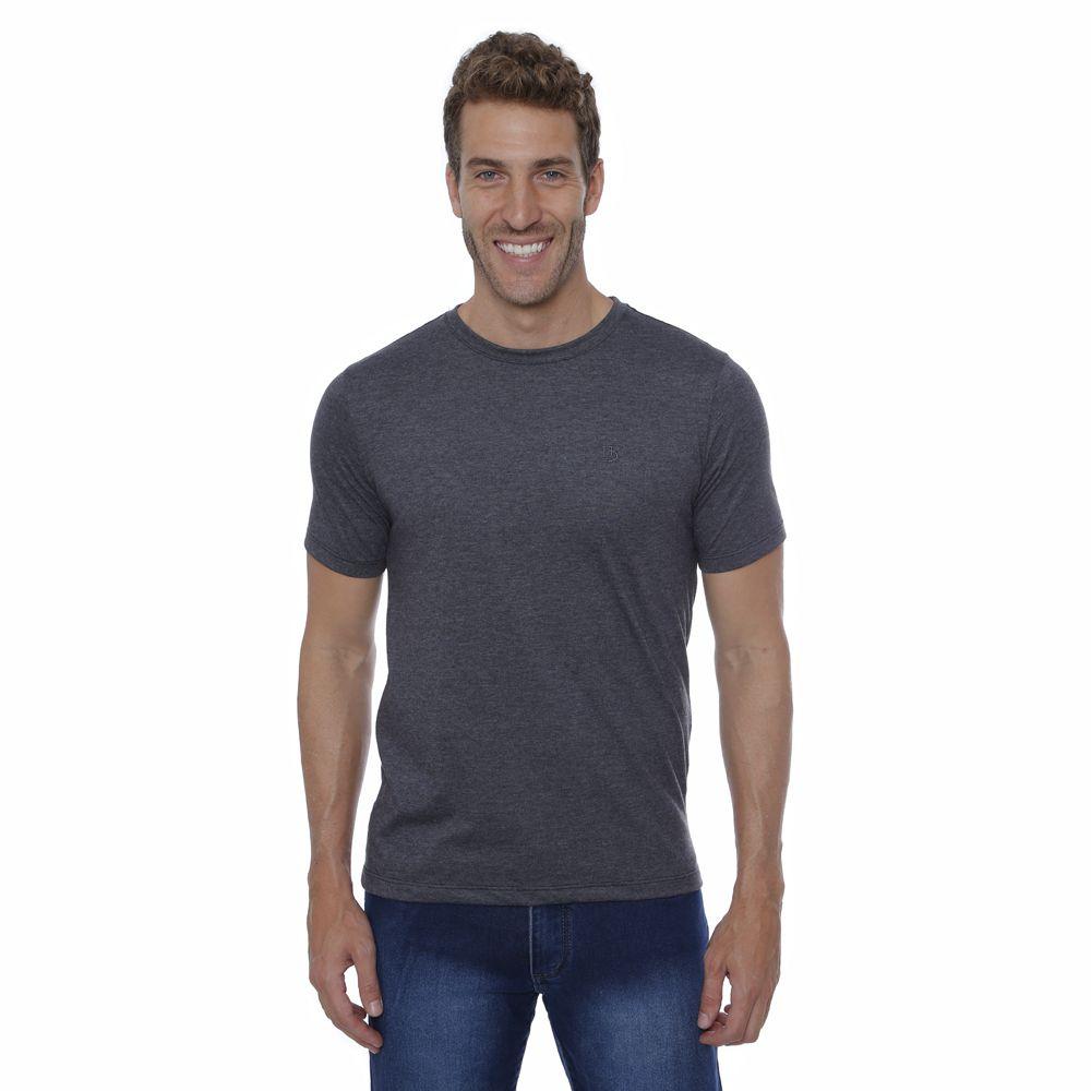 Camiseta Básica Hugo Deleon Grafite