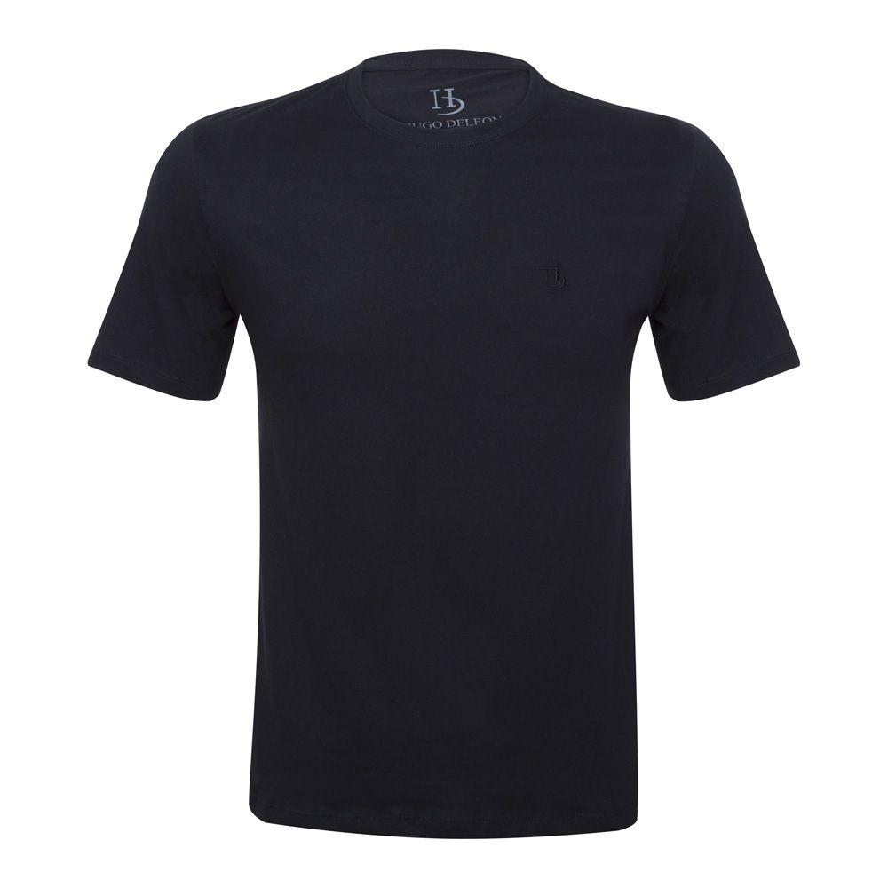 Camiseta Básica Hugo Deleon Preta