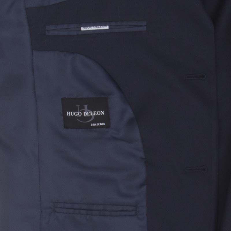 Costume Hugo Deleon casimira liso azul marinho