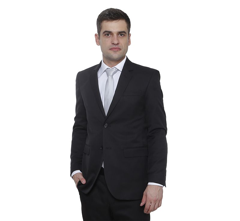 Costume Hugo Deleon casimira liso preto