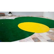 Grama Sintética SoftGrass 12mm - 2x2.5m - 5m2 - Amarela