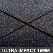 Piso De Borracha 1,00 x 1,00 16mm Preto Ultra Impact