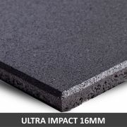 Piso De Borracha Fitness 0,50 x 0,50m 16mm Preto Ultra Impact
