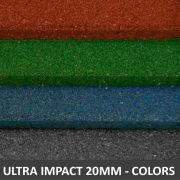 Piso De Borracha Fitness 0,50 x 0,50m 20mm Colors Ultra Impact
