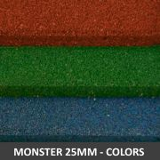 Piso De Borracha Monster Dupla Face 1,00 x 1,00 25mm Colors