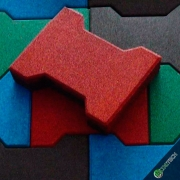 Piso De Borracha Ossinho 20mm Kit 10m² (320 peças) - Frete Gratis