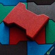Piso De Borracha Ossinho 20mm Kit 40m² (1280 peças) - Frete Gratis