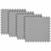 Tatame Eva Kids 10mm KIT 04 placas 0.50x0.50m Cinza