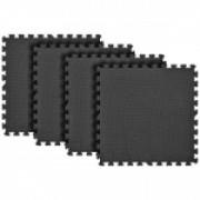 Tatame Eva Kids 10mm KIT 04 placas 0.50x0.50m Preto