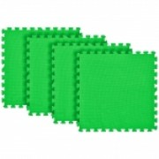 Tatame Eva Kids 10mm KIT 04 placas 0.50x0.50m Verde Bandeira