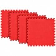 Tatame Eva Kids 10mm KIT 04 placas 0.50x0.50m Vermelho