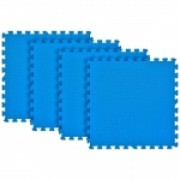 Tatame Eva Kids 20mm KIT 04 placas 0.50x0.50m Azul Royal