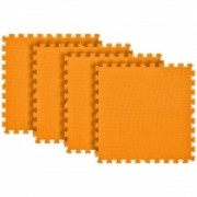 Tatame Eva Kids 20mm KIT 04 placas 0.50x0.50m Laranja