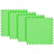 Tatame Eva Kids 20mm KIT 04 placas 0.50x0.50m Verde Claro
