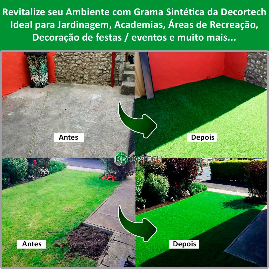 Grama Sintética 2,00 x 3,00m (6m²) SoftGrass 12mm - Verde