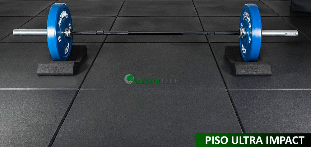 Kit 04 Placas Piso De Borracha Fitness 0,50 x 0,50m 16mm Preto Ultra Impact