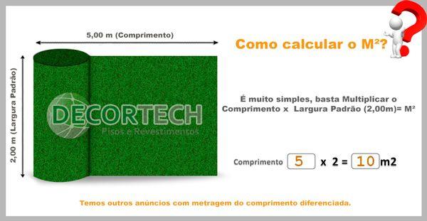 Grama Sintética 2,00 x 5,00m SoftGrass 12mm - Verde