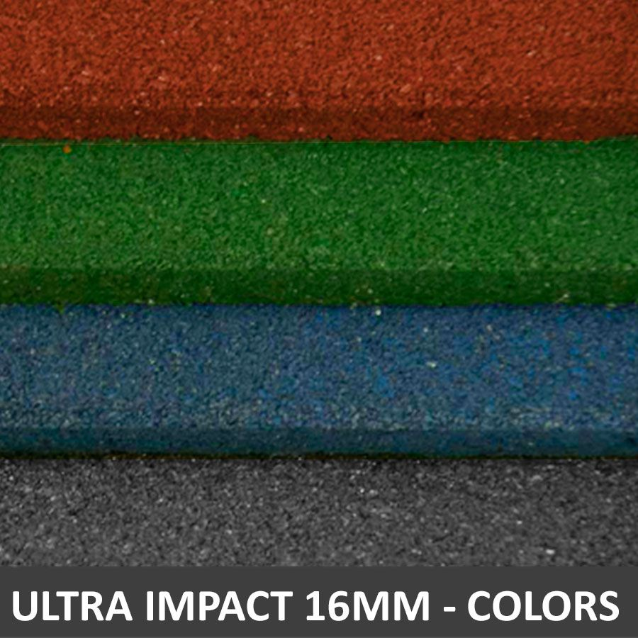 Piso De Borracha Fitness 0,50 x 0,50m 16mm Colors Ultra Impact