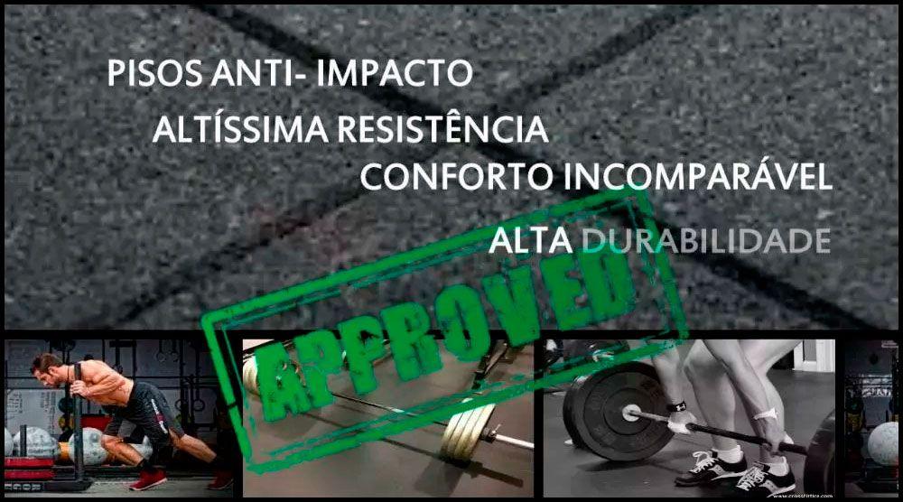 Piso De Borracha Fitness 0,50 x 0,50m 16mm Preto Ultra Impact