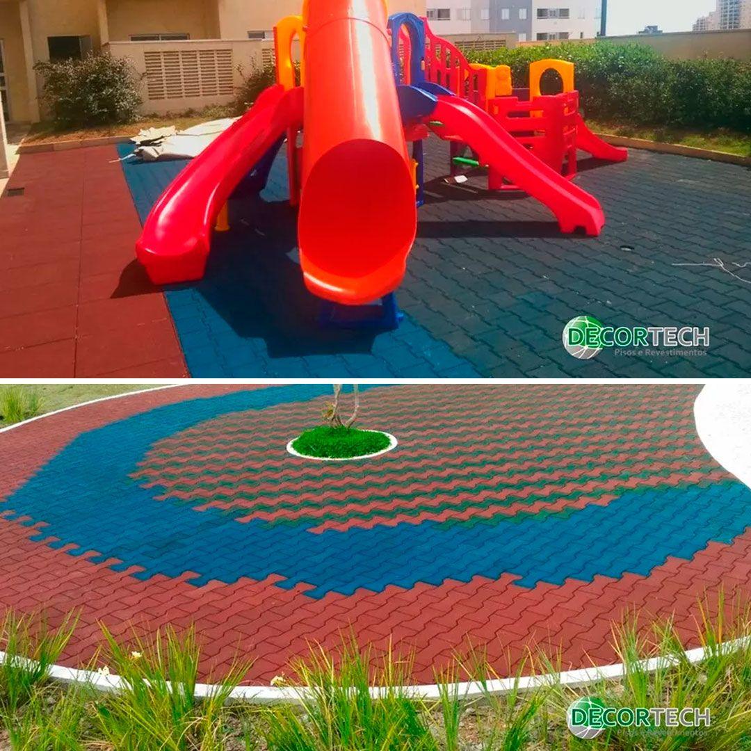 Piso De Borracha Ossinho 20mm -  Proteção Playgrounds