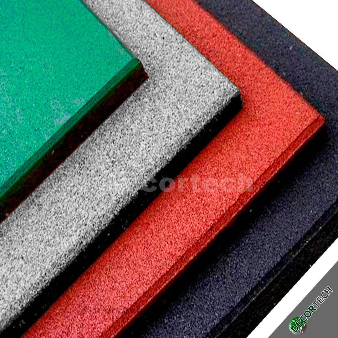 Piso De Borracha Square 0,50 x 0,50m 16mm -  Proteção Playgrounds