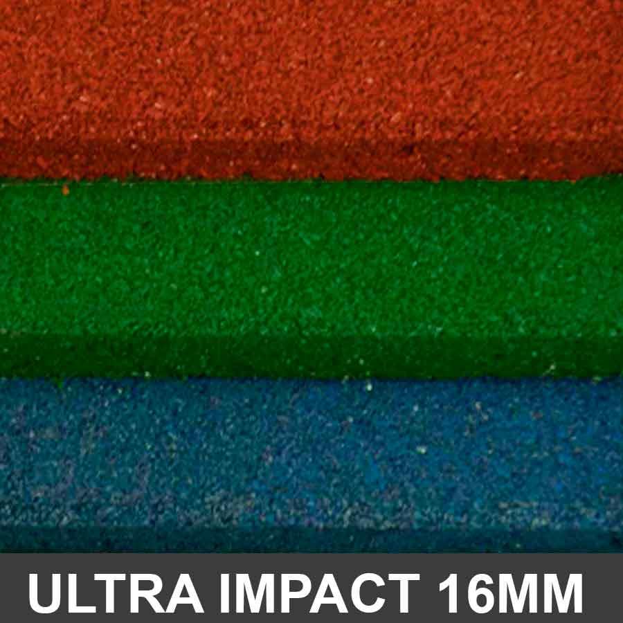 Piso De Borracha Ultra Impact 1,00 x 1,00 16mm Colors