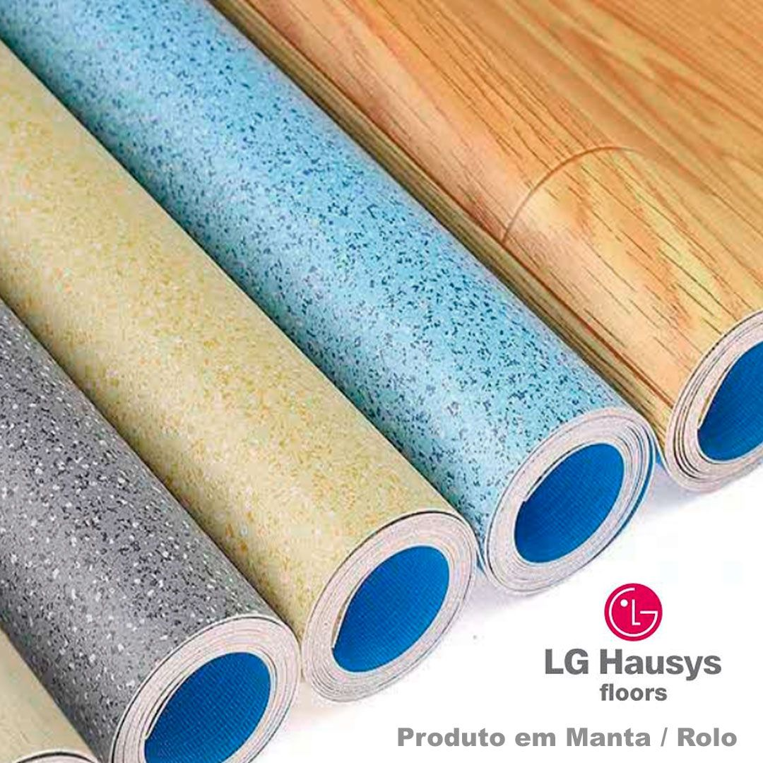 Piso Vinílico em Manta Bright 1,6mm - 2x5m - 92301 - Azul Médio - LG Hausys