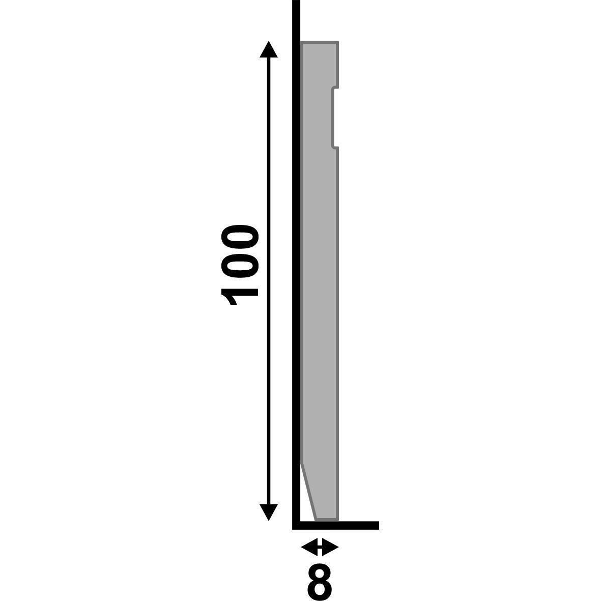 Rodapé Branco Premium 10 Cm Frisado De Poliestireno