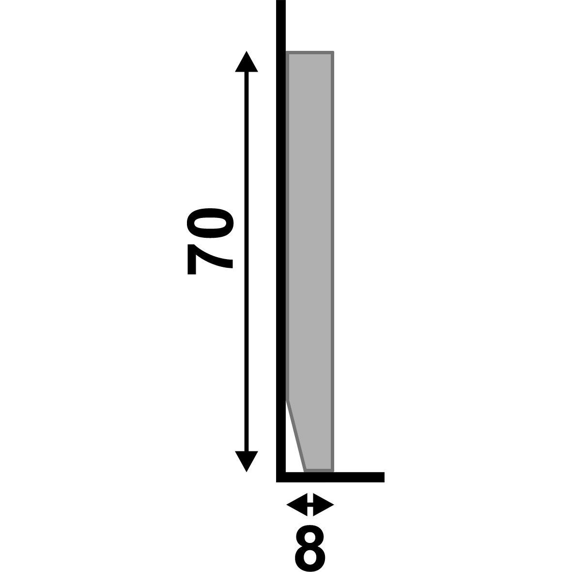 Rodapé Liso Branco 7cm Barra 2,20m - Poliestireno