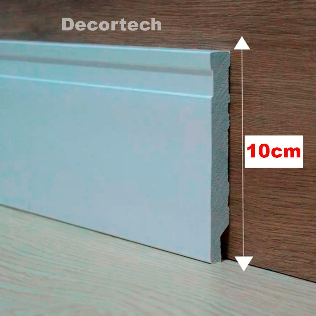 Rodapé Branco Premium Frisado 10 Cm - Caixa com 33 metros ( 15 barras de 2,20m)