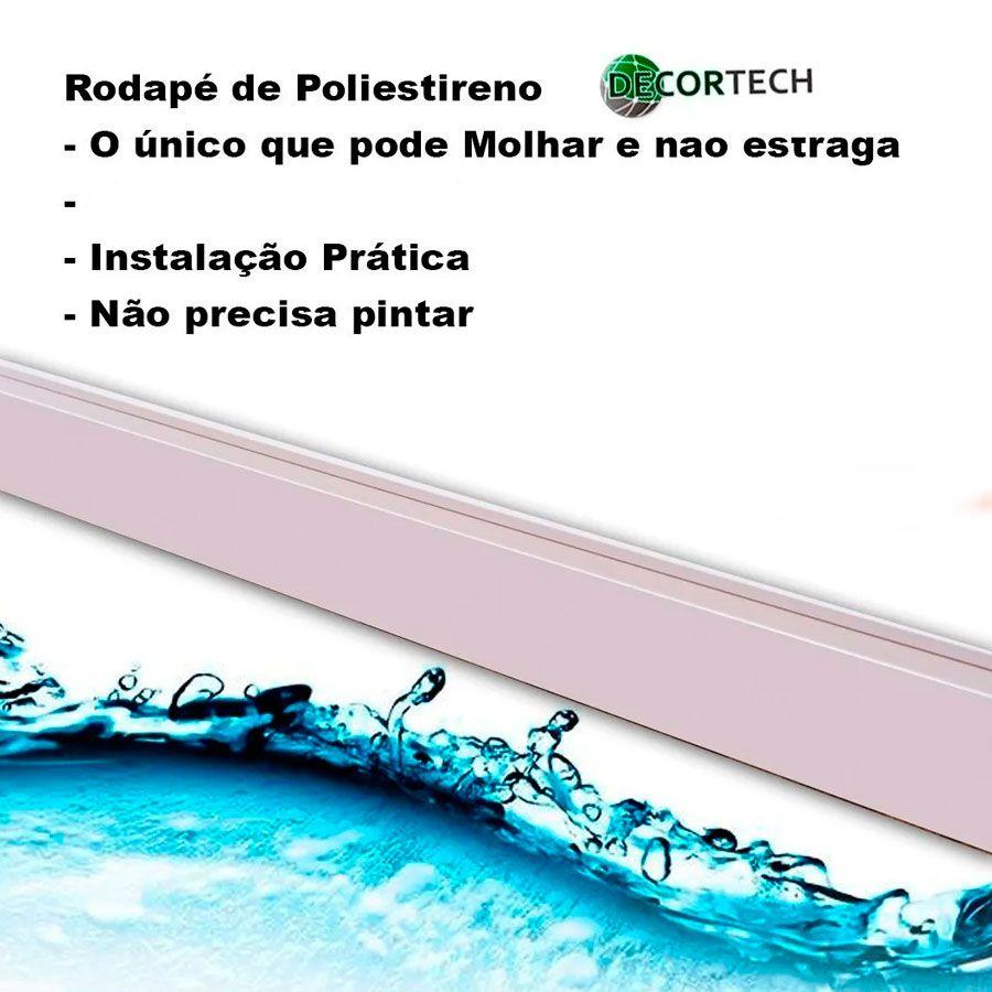Rodapé Branco Premium Liso10 Cm - Caixa com 33 metros ( 15 barras de 2,20m)