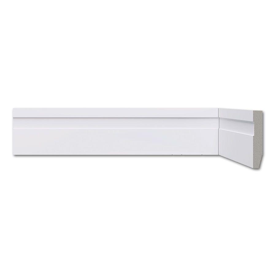 Rodapé Frisado Branco 5cm Barra 2,20m - Poliestireno