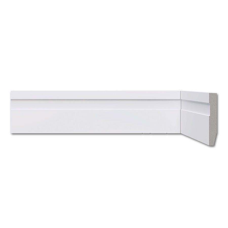 Rodapé Frisado Branco 7cm Barra 2,20m - Poliestireno