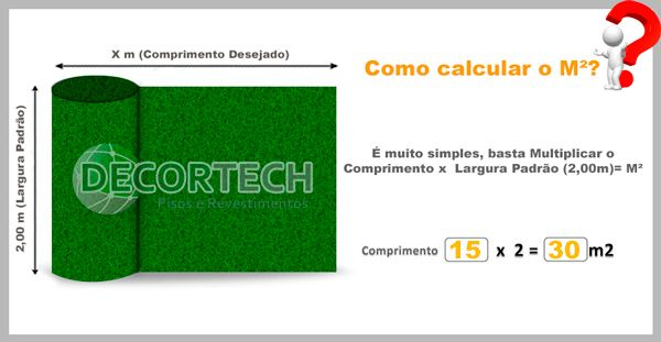 Grama Sintética  2,00 x 15,00m - 30m2 - SoftGrass 12mm - Verde